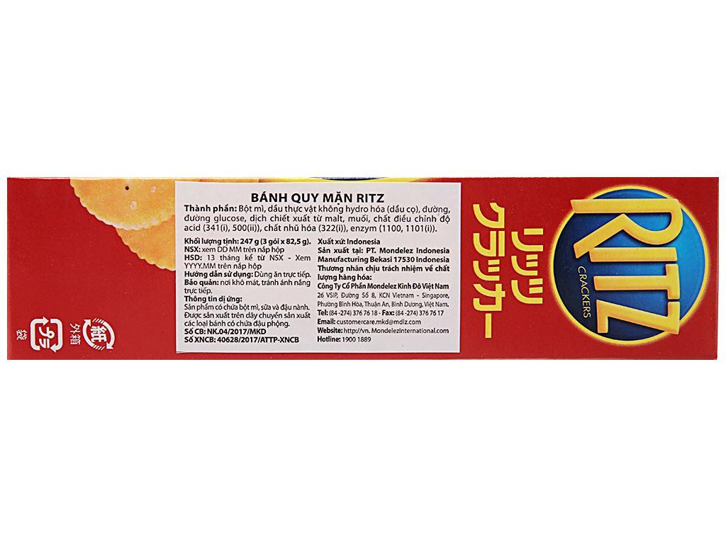 Bánh quy mặn Ritz hộp 247g 3