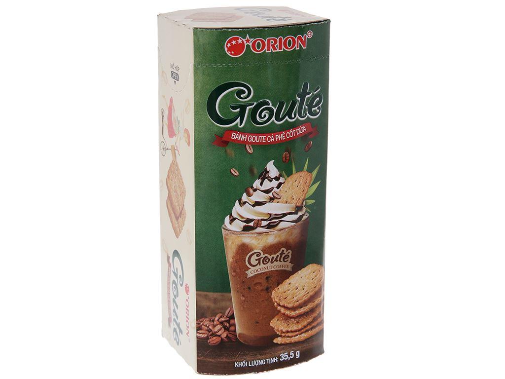 Bánh quy cà phê cốt dừa Gouté hộp 35.5g 1