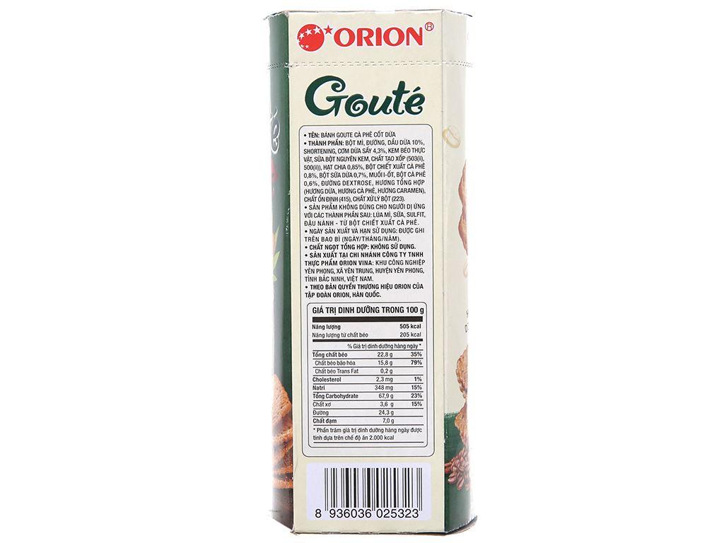 Bánh quy cà phê cốt dừa Gouté hộp 35.5g 2