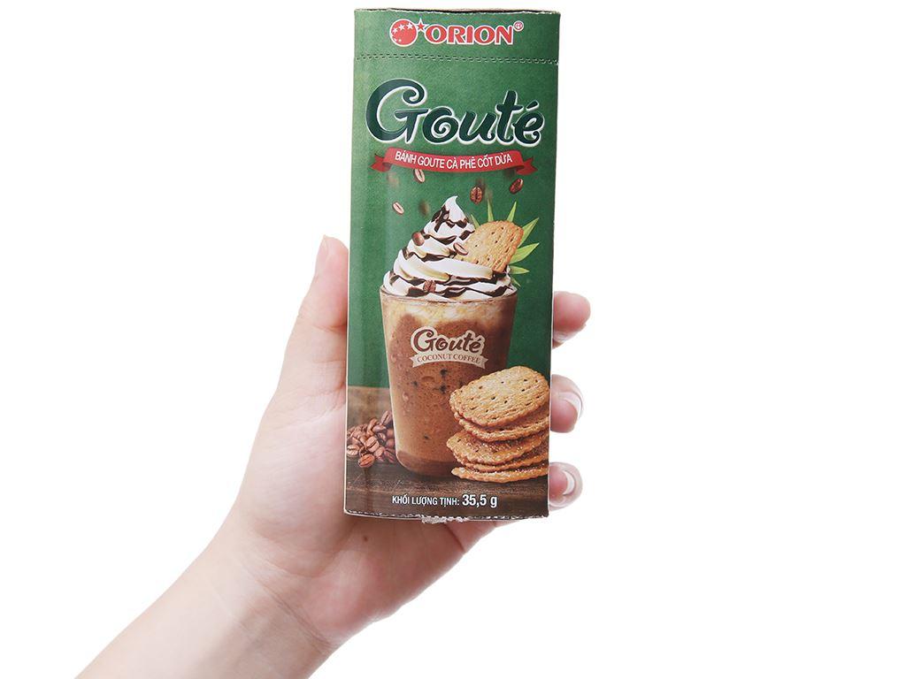 Bánh quy cà phê cốt dừa Gouté hộp 35.5g 4