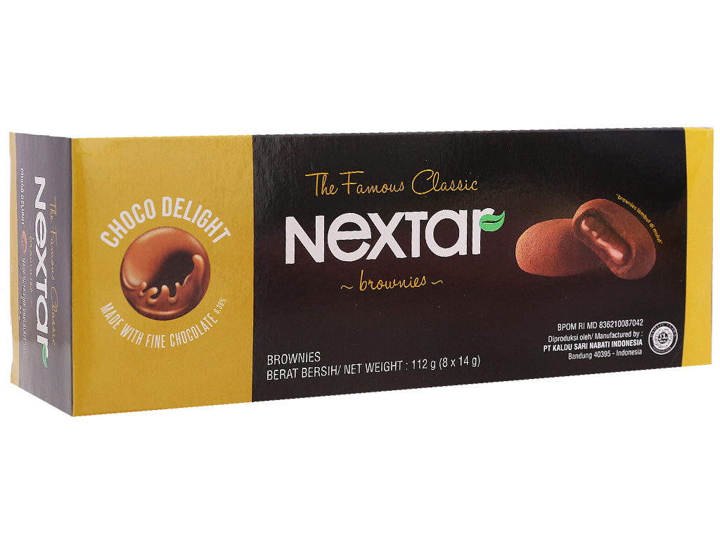Bánh quy Nextar Brownies Socola 112g 1