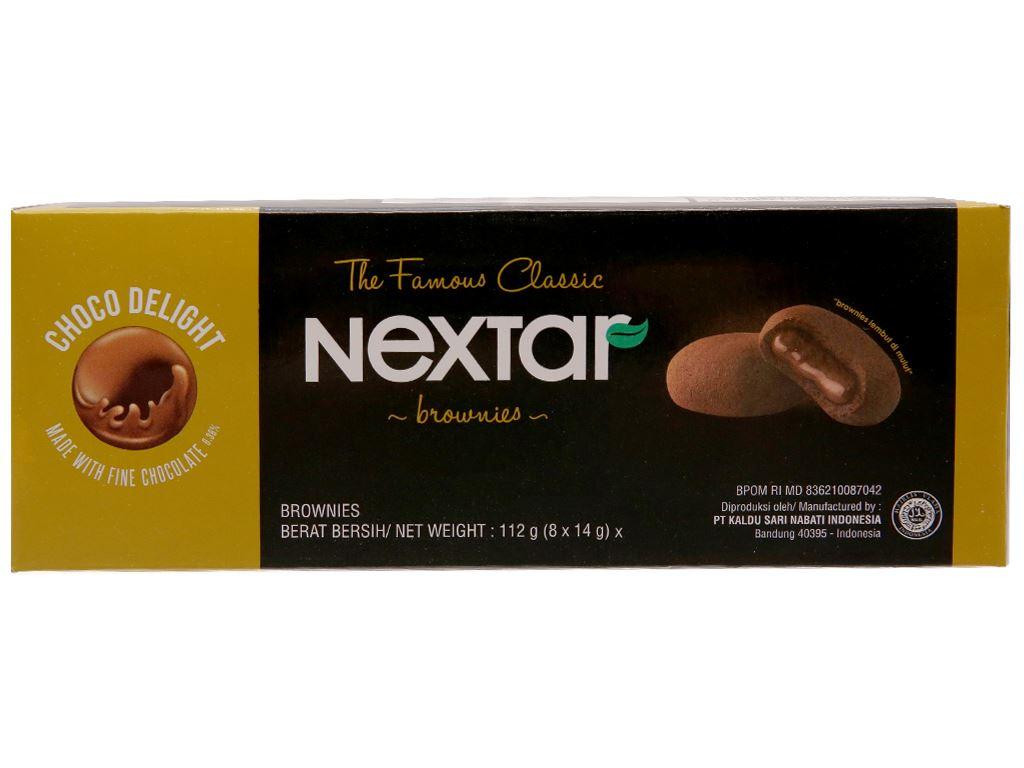 Bánh quy socola Nextar Brownies hộp 112g 1