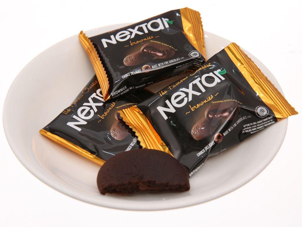 Bánh quy socola Nextar Brownies hộp 112g 3