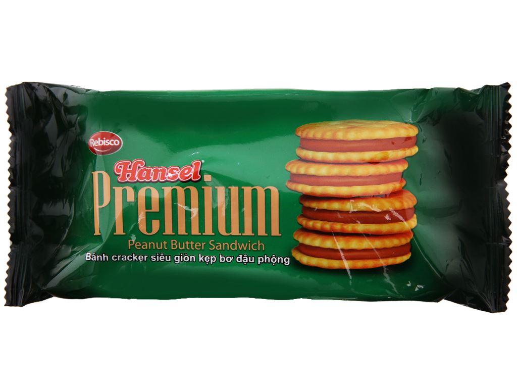 Bánh cracker kẹp bơ đậu phộng Rebisco Hansel Premium gói 55g 1