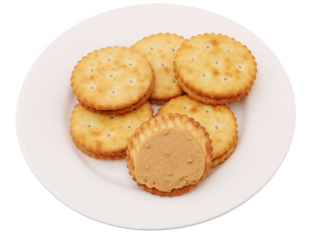 Bánh cracker kẹp bơ đậu phộng Rebisco Hansel Premium gói 55g 3