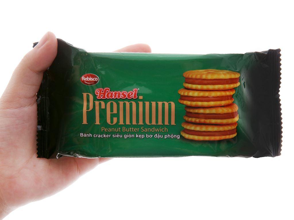 Bánh cracker kẹp bơ đậu phộng Rebisco Hansel Premium gói 55g 4