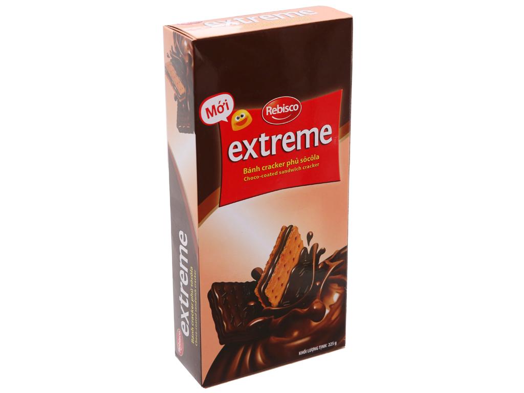 Bánh cracker phủ socola Rebisco Extreme hộp 225g 2