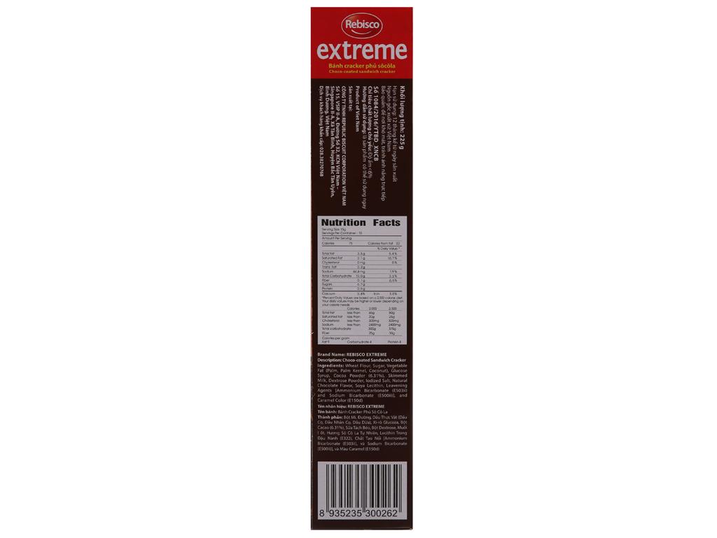Bánh quy Rebisco Extreme 225g 3