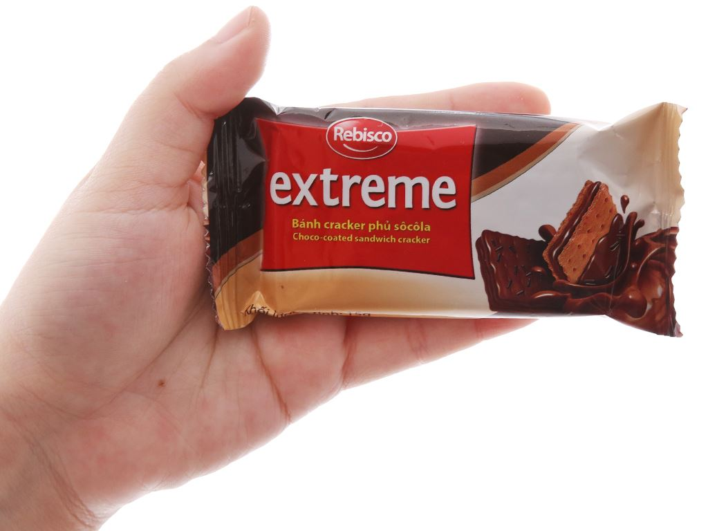Bánh cracker phủ socola Rebisco Extreme hộp 225g 5