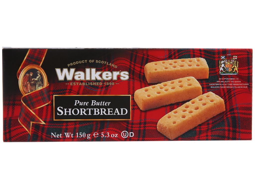 Bánh quy Walkers bơ 150g 2