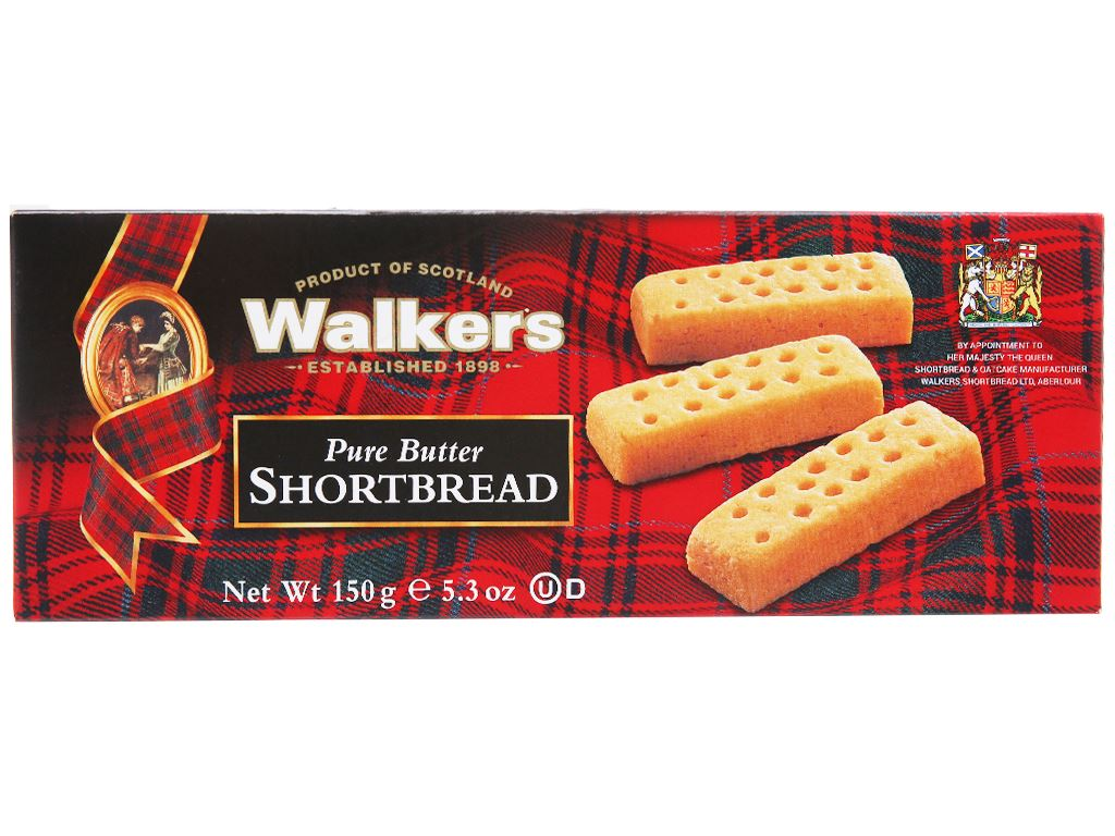 Bánh quy bơ giòn Walkers hộp 150g 2