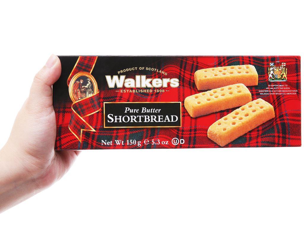 Bánh quy bơ giòn Walkers hộp 150g 4