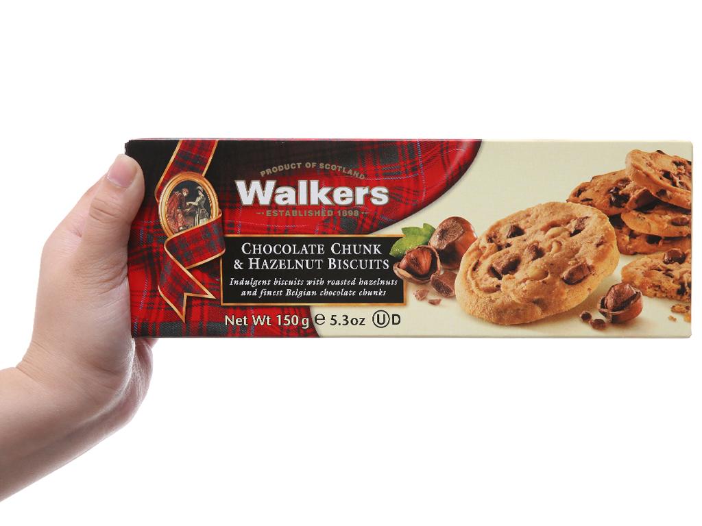 Bánh quy socola hạt dẻ Walkers hộp 150g 5