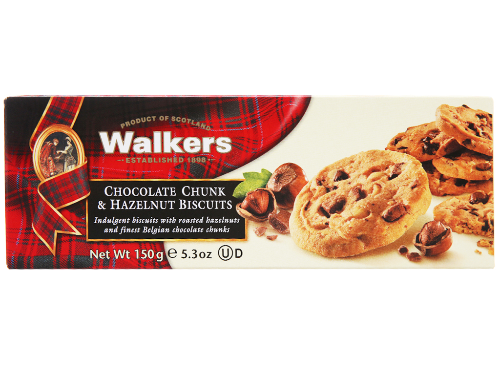Bánh quy socola hạt dẻ Walkers hộp 150g 2