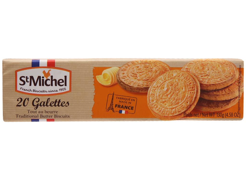 Bánh quy ngọt St Michel galettes bơ truyền thống 130g 2