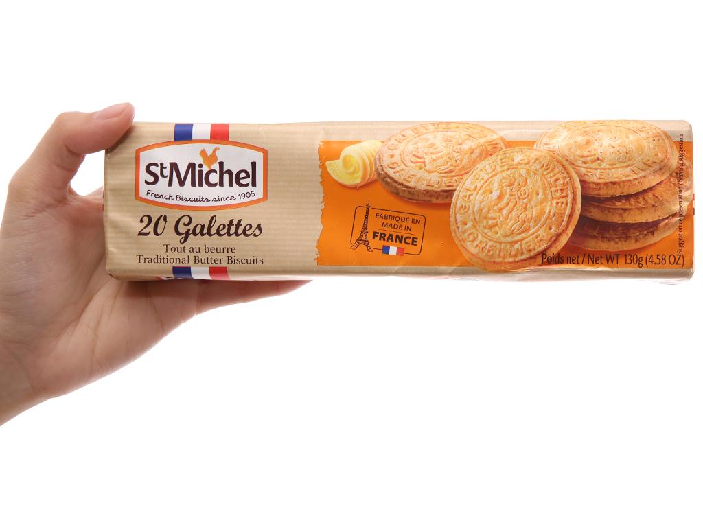Bánh quy bơ truyền thống StMichel Galettes hộp 130g 5