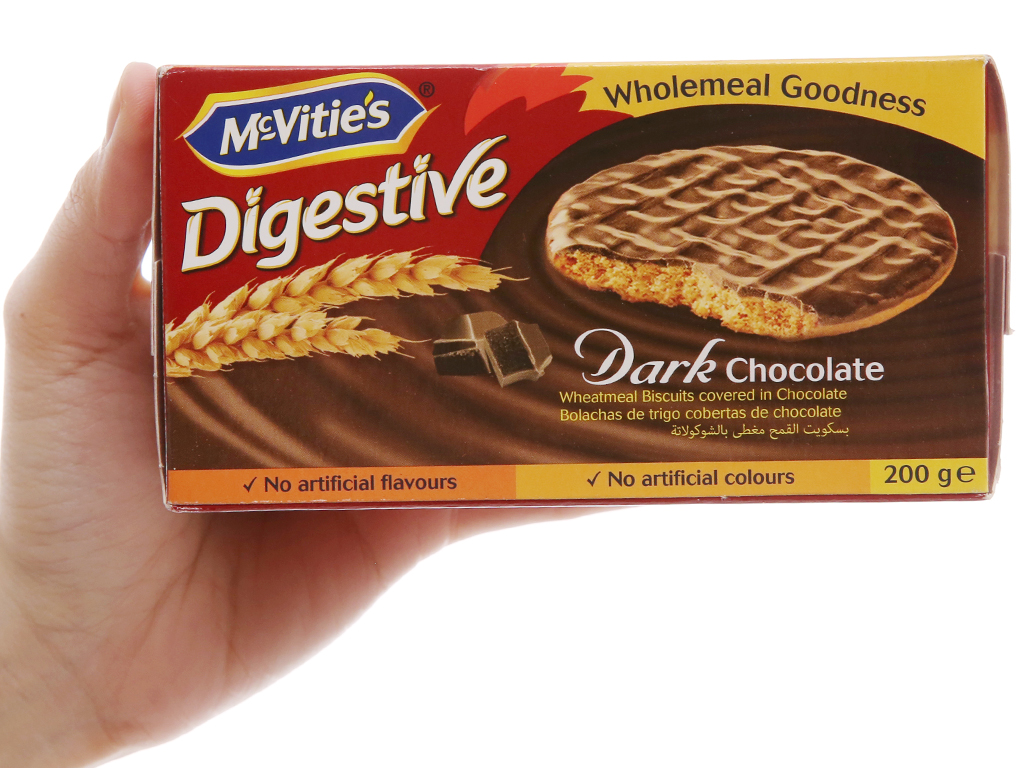 Bánh quy ngọt McVitie's digestive socola đen 200g 5