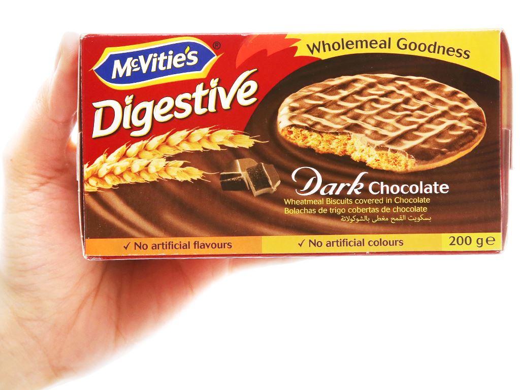 Bánh quy lúa mì nguyên cám socola đen McVitie's Digestive hộp 200g 5