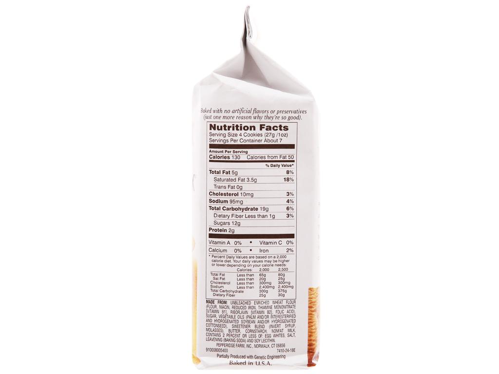 Bánh quy Pepperidge Farm Bordeaux gói 191g 2