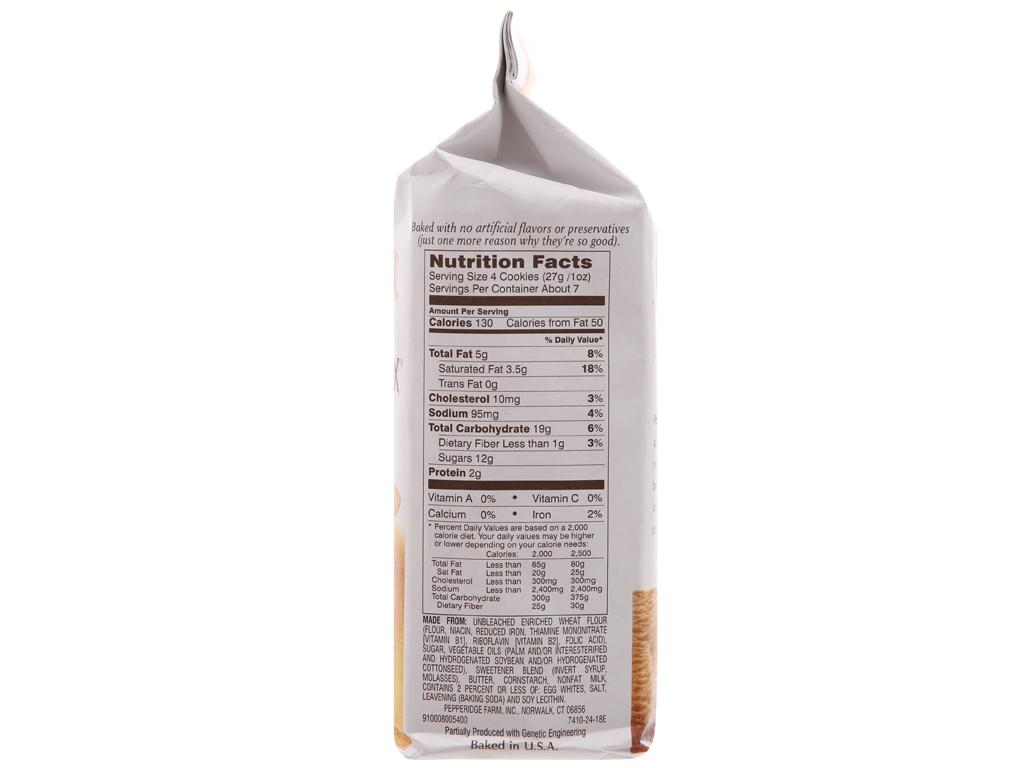 Bánh quy Pepperidge Farm Bordeaux gói 191g 3