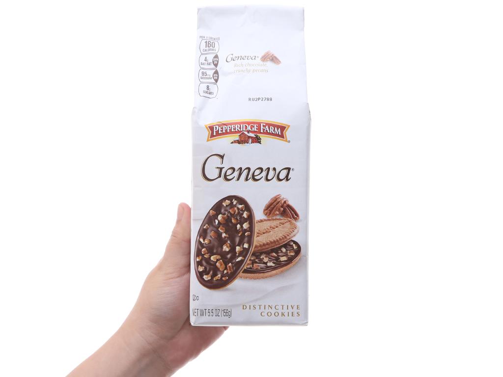 Bánh quy socola và hạt bồ đào Pepperidge Farm Geneva gói 156g 5