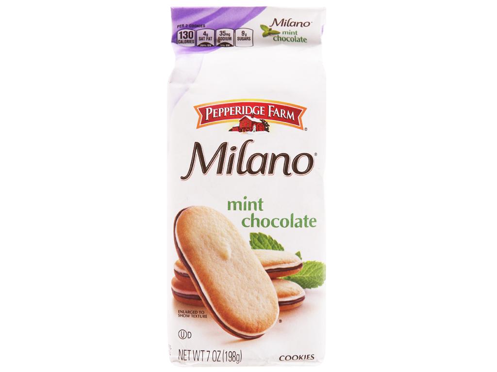 Bánh quy socola bạc hà Pepperidge Farm Milano gói 198g 1