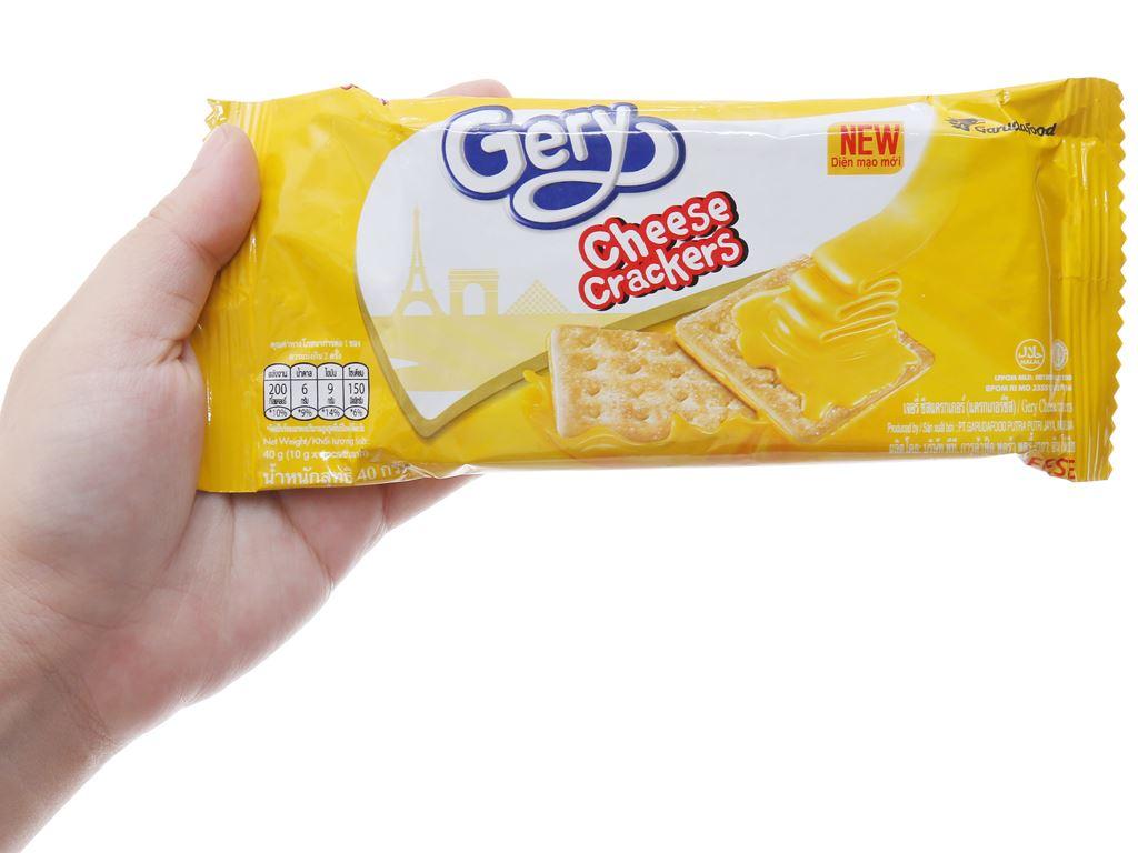 Bánh cracker phô mai Gery gói 40g 5