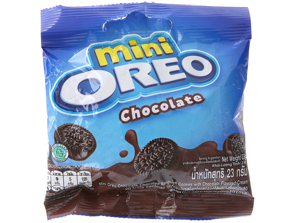 Bánh quy socola Nhân kem socola Oreo Mini gói 23g 2
