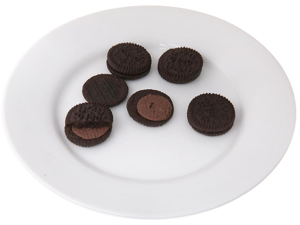 Bánh quy socola Nhân kem socola Oreo Mini gói 23g 4