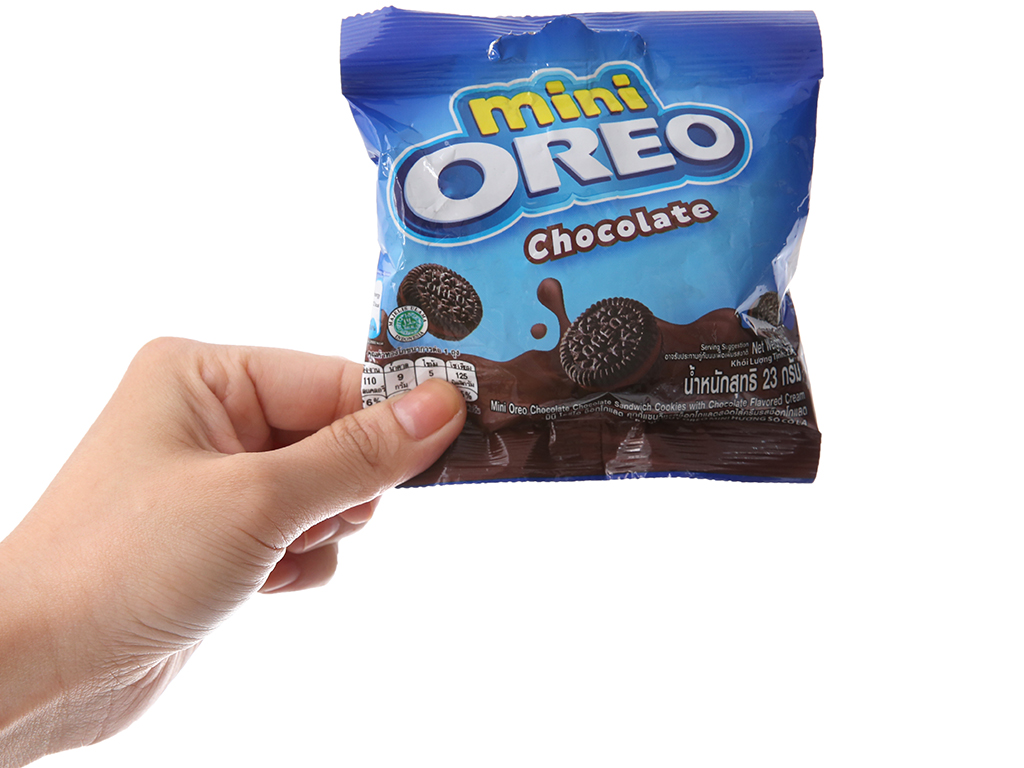 Bánh quy socola Nhân kem socola Oreo Mini gói 23g 5