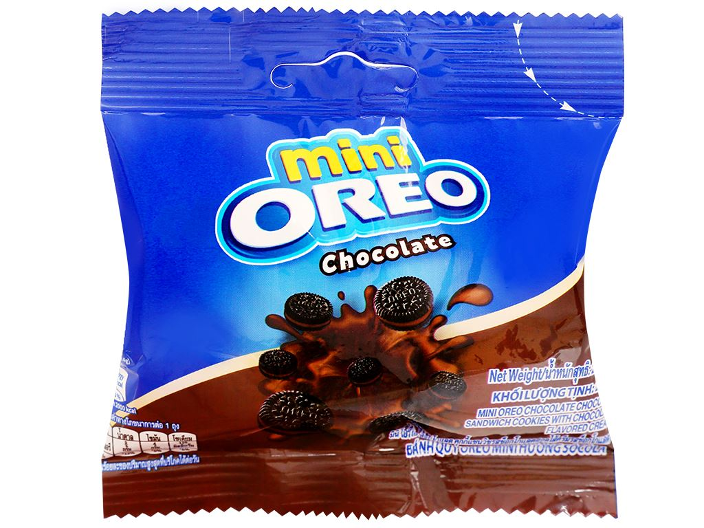 Bánh quy Oreo Mini kem socola gói 20.4g 7