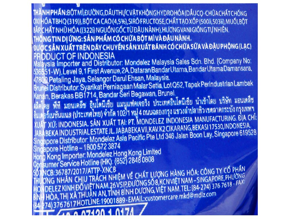 Bánh quy Oreo Mini kem socola gói 20.4g 9