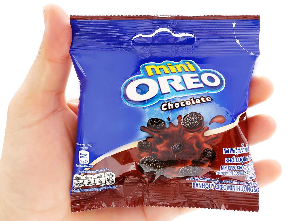 Bánh quy Oreo Mini kem socola gói 20.4g 11