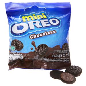 Bánh quy socola Nhân kem socola Oreo Mini gói 23g