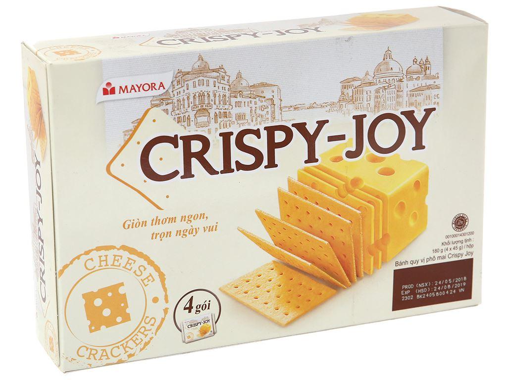 Bánh quy phô mai Crispy Joy hộp 180g 2