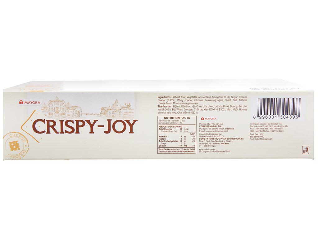 Bánh quy phô mai Crispy Joy hộp 180g 3