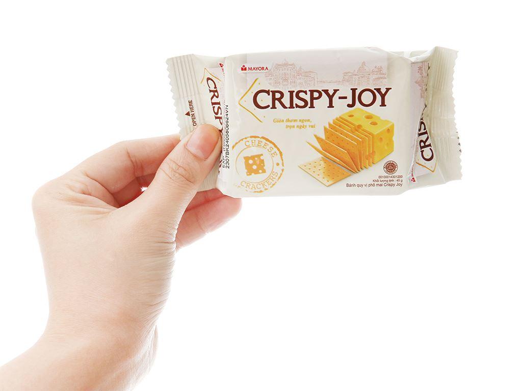 Bánh quy phô mai Crispy Joy hộp 180g 5
