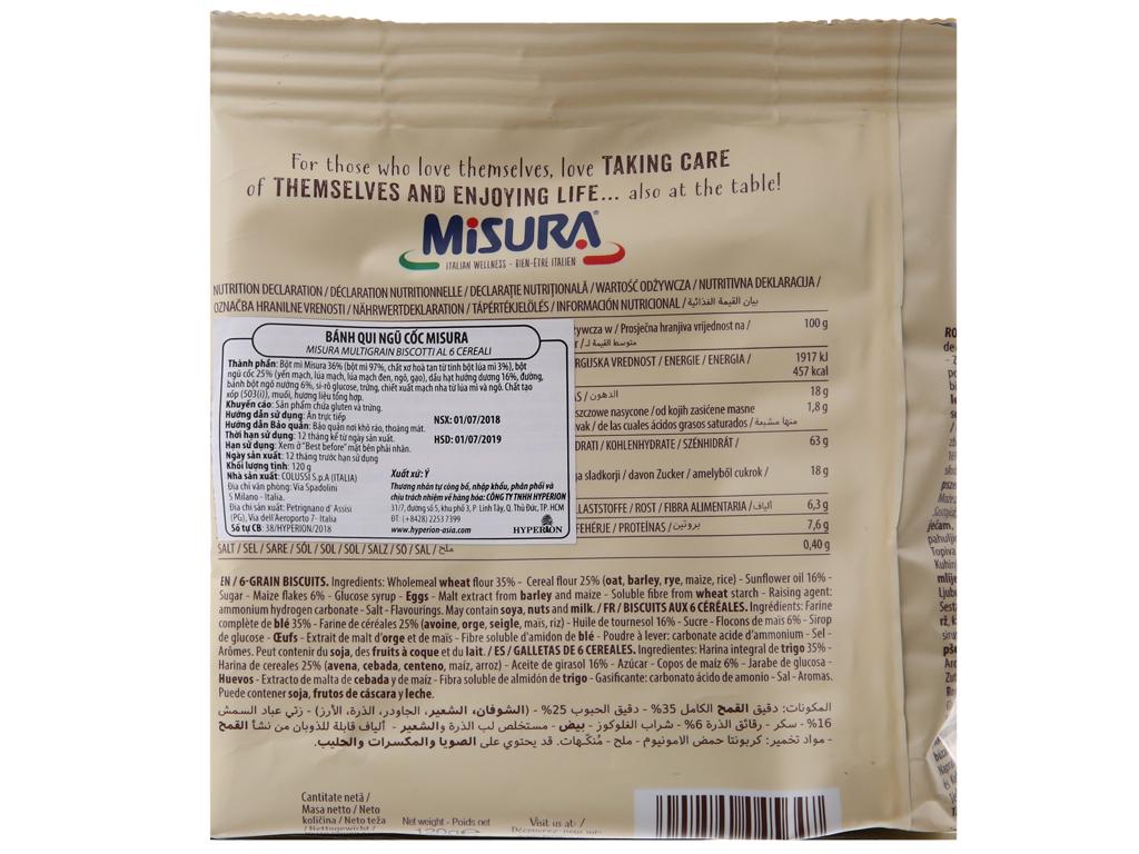 Bánh quy ngũ cốc Misura gói 120g 3
