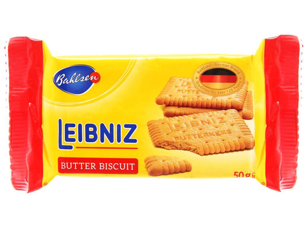 Bánh quy bơ Bahlsen Leibniz gói 50g 1
