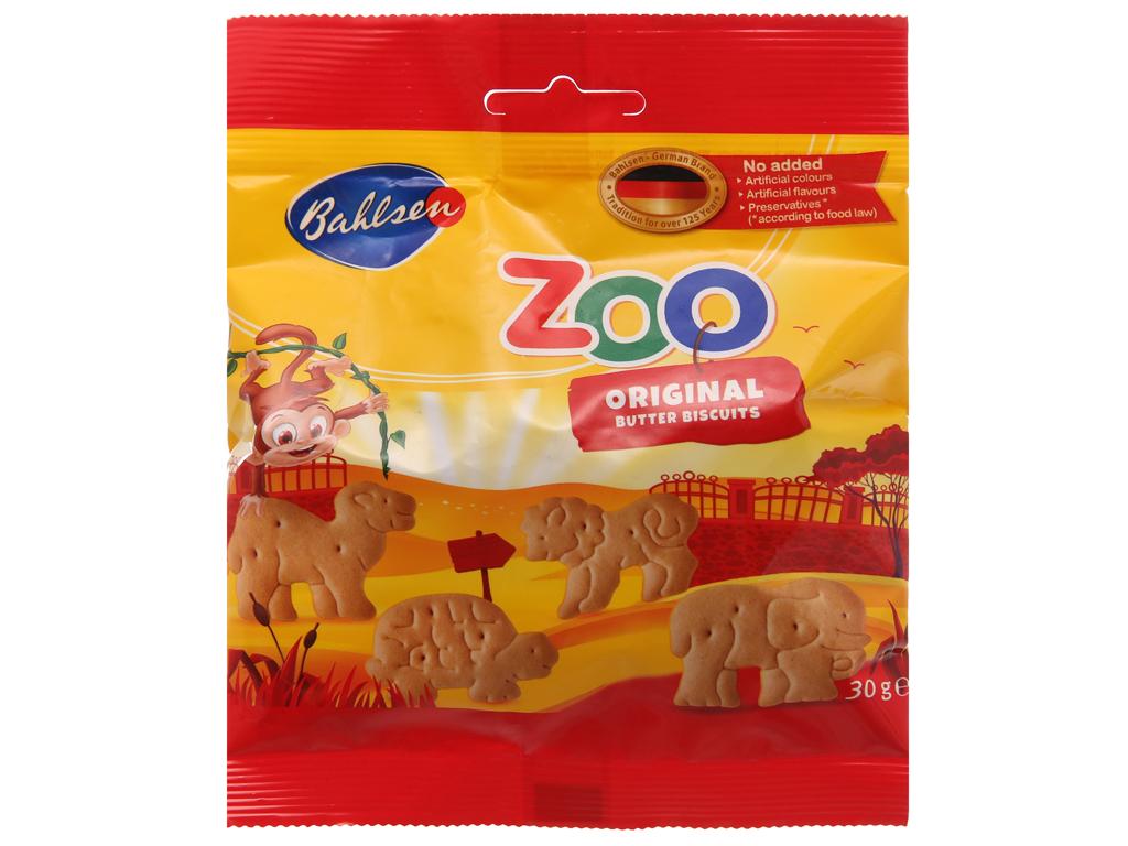 Bánh quy hình thú vị bơ Bahlsen Zoo gói 30g 2