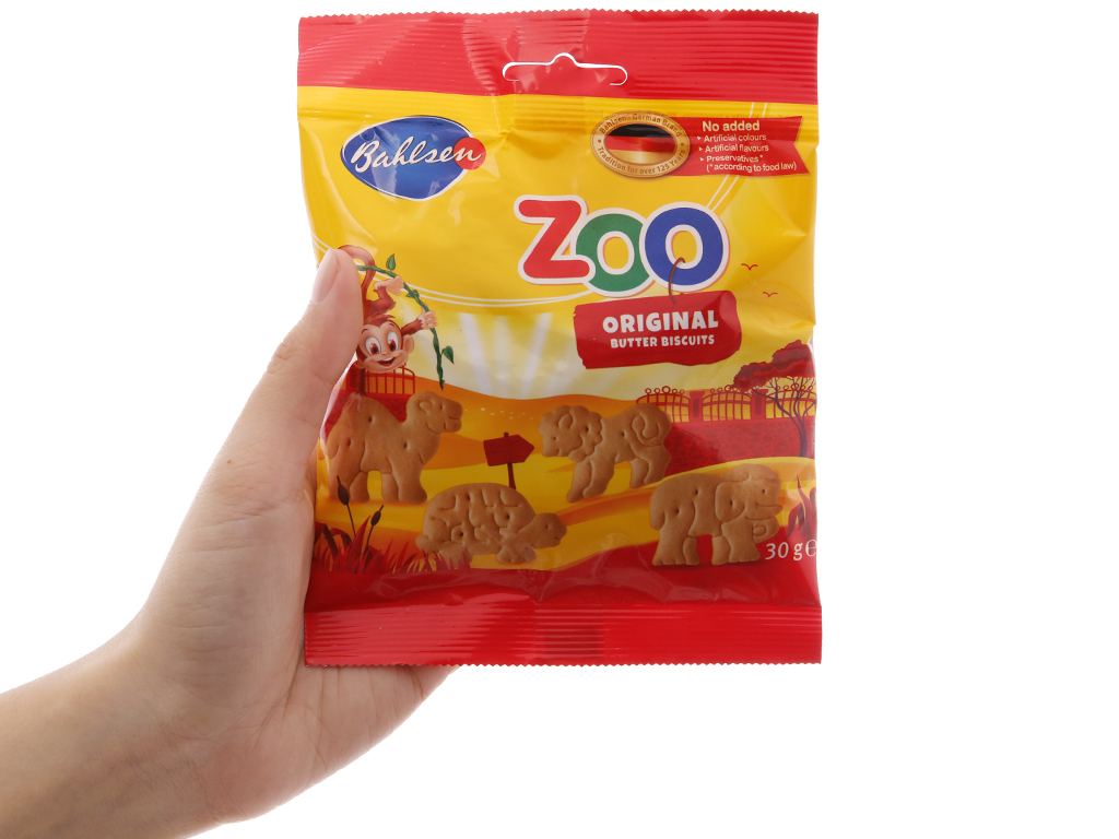 Bánh quy hình thú vị bơ Bahlsen Zoo gói 30g 5