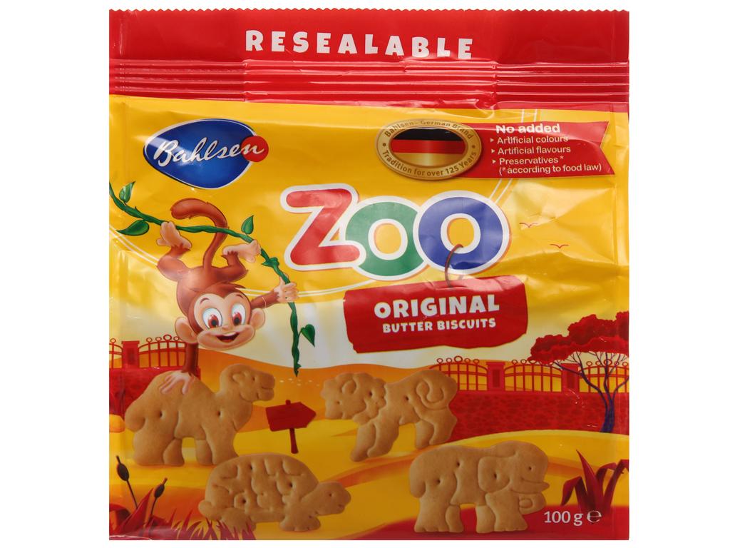 Bánh quy bơ hình thú Bahlsen Zoo gói 100g 2