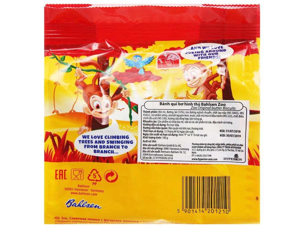 Bánh quy bơ hình thú Bahlsen Zoo gói 100g 7
