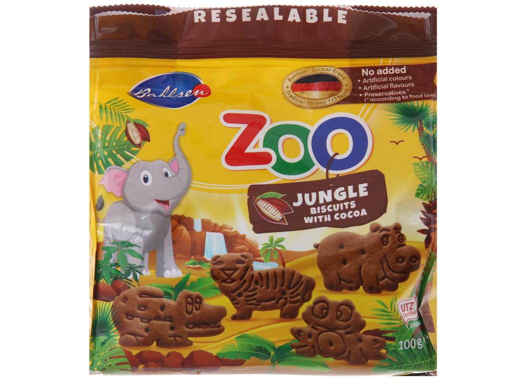 Bánh quy hình thú Bahlsen Zoo cacao 100g 2