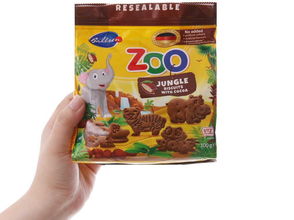 Bánh quy hình thú Bahlsen Zoo cacao 100g 5
