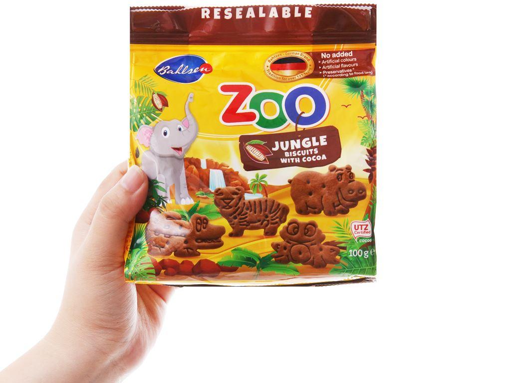 Bánh quy hình thú rừng nhiệt đới Bahlsen Zoo gói 100g 8