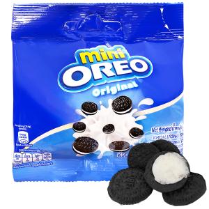 Bánh quy mini Oreo nhân kem vani gói 20.4g