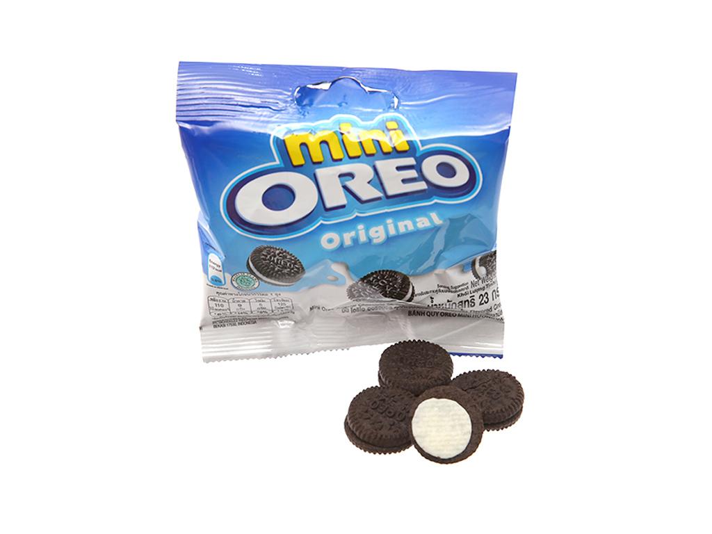 Bánh quy ngọt Oreo Mini kem vani 23g 1