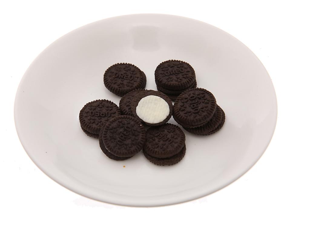 Bánh quy socola nhân kem vani Oreo Mini gói 20.4g 4