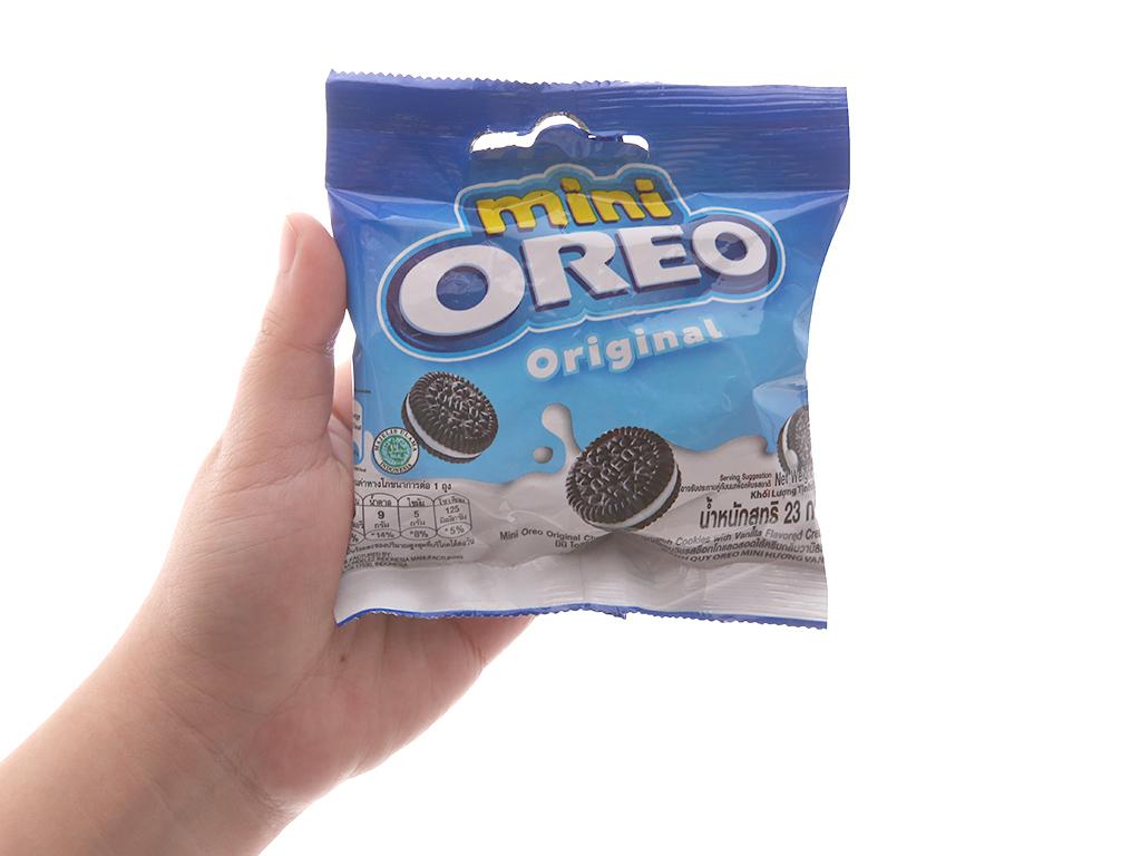 Bánh quy socola nhân kem vani Oreo Mini gói 20.4g 3